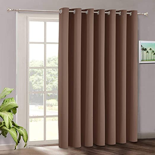 Amazon.com: RYB HOME Patio Sliding Door Curtain Panel - Blackout .