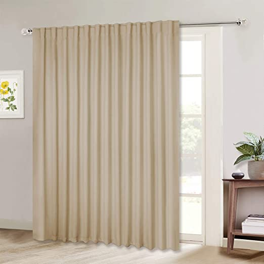 Amazon.com: NICETOWN Room Darkening Sliding Glass Door Curtains .