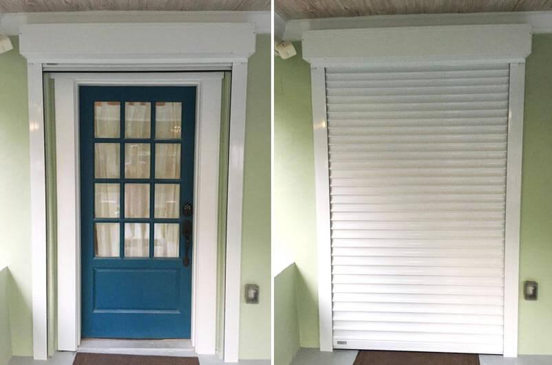 Tampa Front Door Rolling Shutters Storm Shutter Installatio