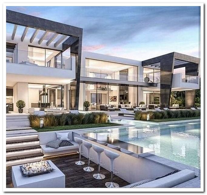 16+ Cozy Look Modern Dream House Exterior Design | Home Line Ide