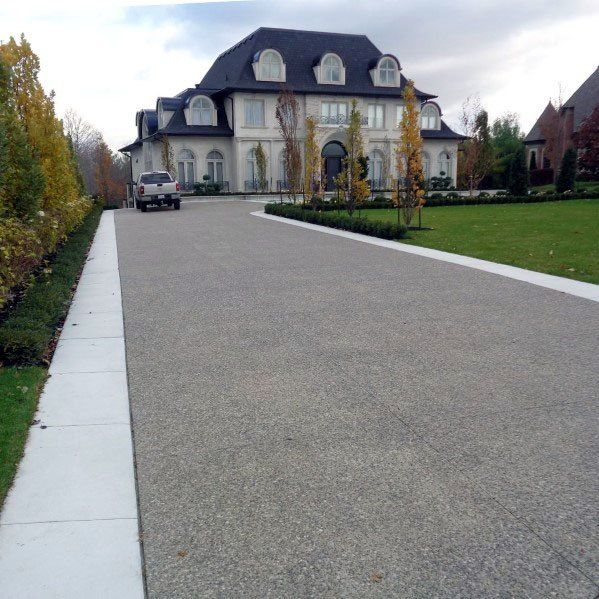 Top 50 Best Concrete Driveway Ideas - Front Yard Exterior Designs .
