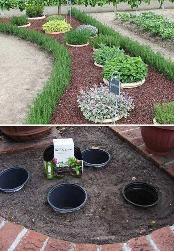 Simple, easy and cheap DIY garden landscaping idea... | Jardins .