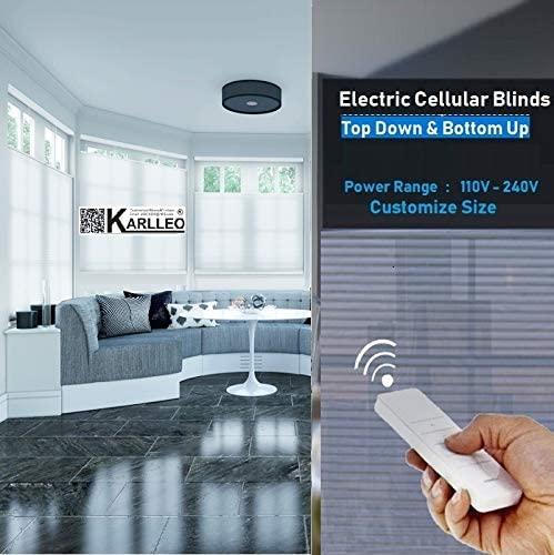 Amazon.com: karlleo-curtain Motorized/Electric Cellular Shades .