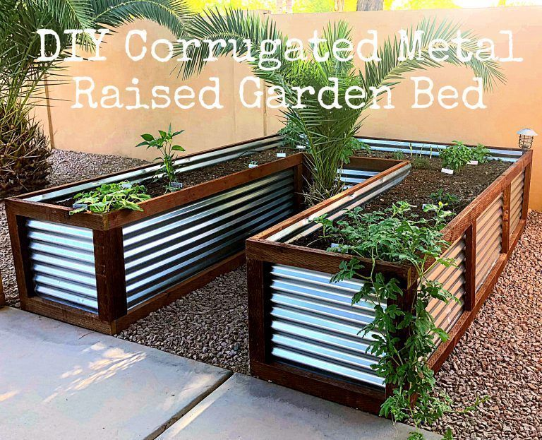 Raised garden Metal - DIY Corrugated Metal Raised Garden Bed .