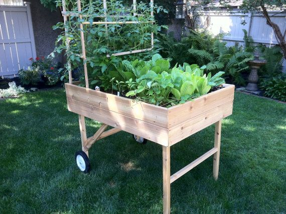 Mobile Garden Portable raised bed planter by GardenToGo on Etsy .