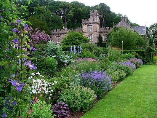 Those beautiful English gardens and brick/stone structures .