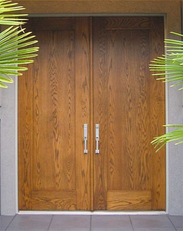 Custom Contemporary Single Panel Doors Wood Entry - Doors by .