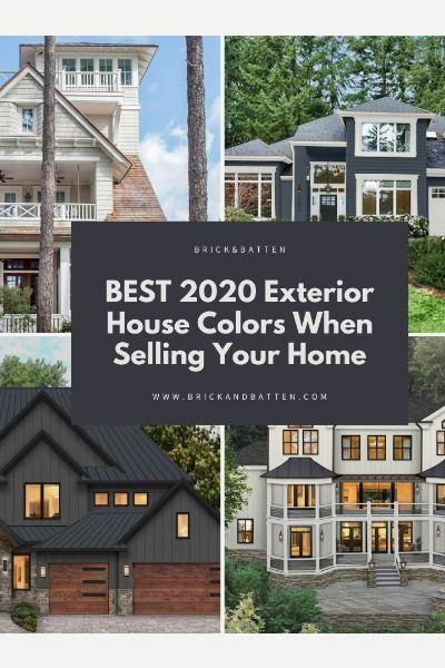 Best 2020 Exterior House Colors When Selling | Blog | brick&batten .