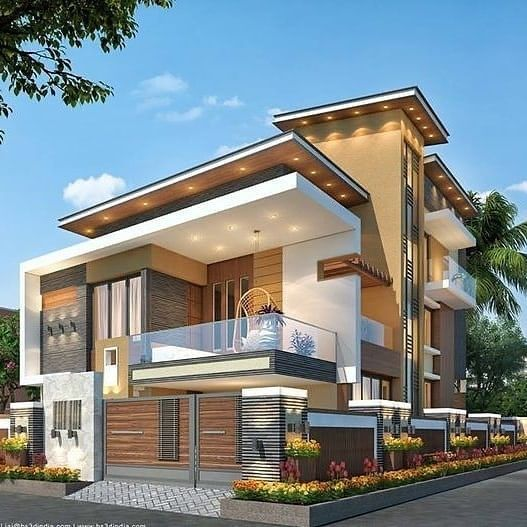 Indian House Architecture in 2020 | Modern house facades, Modern .