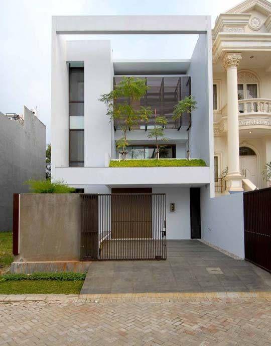Minimalist house exterior in square design | Modern minimalist .
