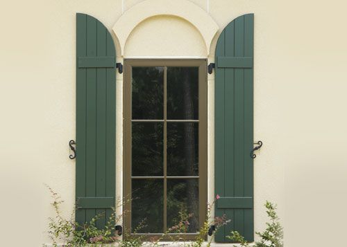 Wood Exterior Window Shutters Pine Basswood Cedar | Orange County .