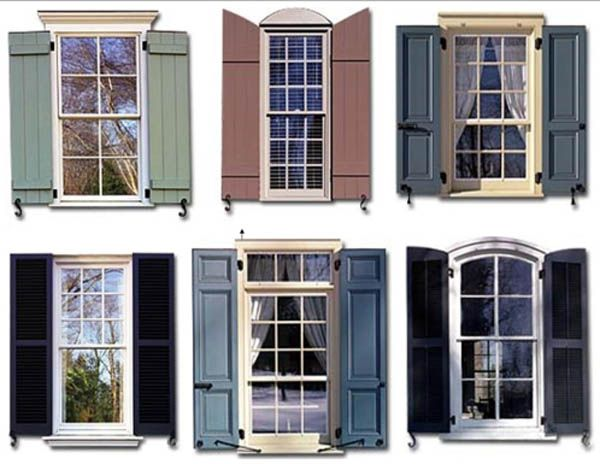 Types of Exterior Shutters - CreativeLittleBedroom.com | House .
