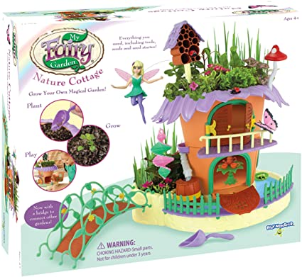 Amazon.com: My Fairy Garden Nature Cottage - Grow & Play Set: Toys .