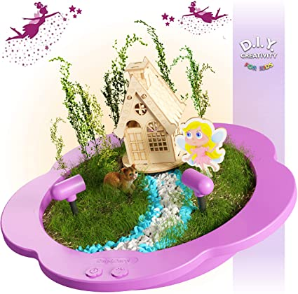 Amazon.com: Light-up Fairy Garden Kit for Kids - Craft & Grow Your .