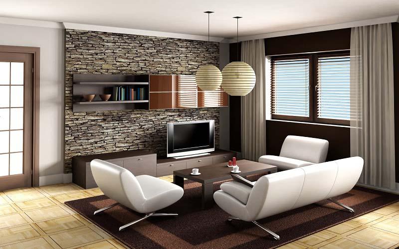 Contemporary Modern Small Family Room Decorating - HomesCorner.C