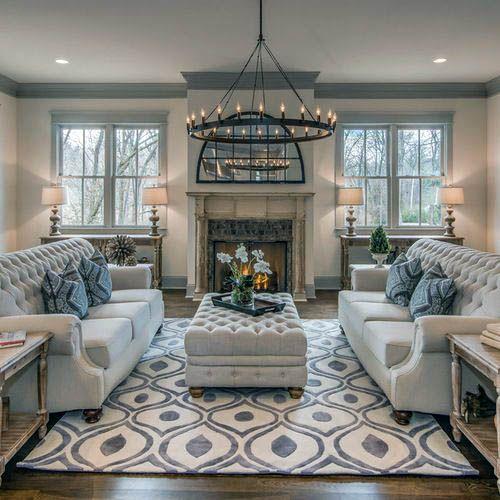 5 Living Room Arrangements Perfect For Big Families | Farm house .