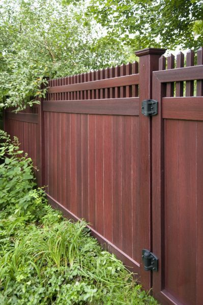 Mahogany Fence (With images) | Privacy fence desig