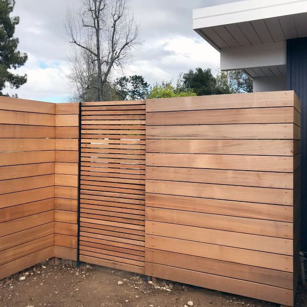 Top 60 Best Modern Fence Ideas - Contemporary Outdoor Designs .
