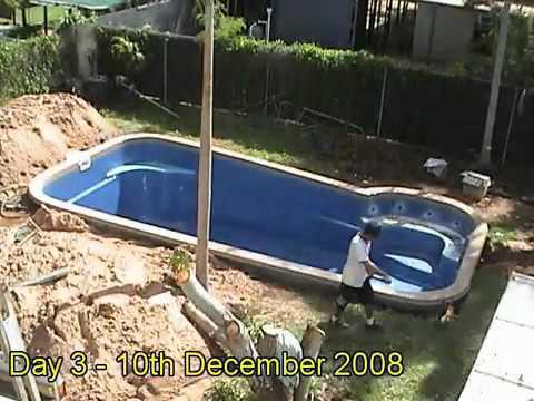 Fibreglass Pool Installation - YouTu