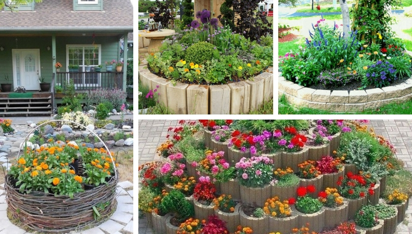 Round flower, herb, vegetable beds: 40 simple ideas for your .