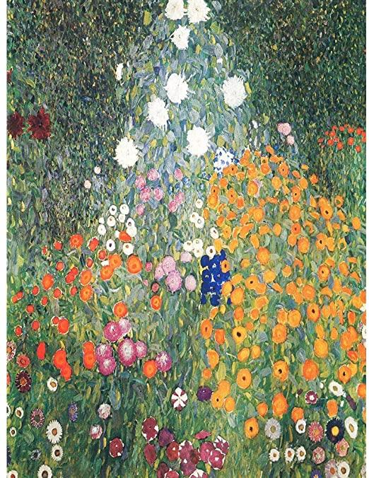 Amazon.com: Wee Blue Coo Gustav Klimt Flower Garden 1907 Old .