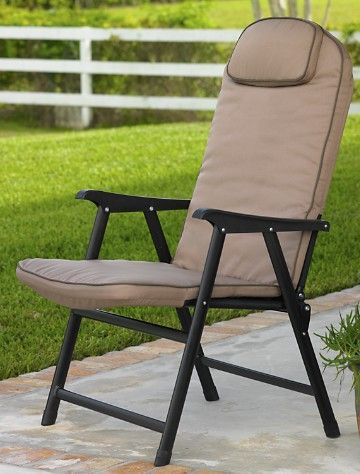 Extra-Wide Folding Padded Outdoor Chair | Outdoor folding chairs .