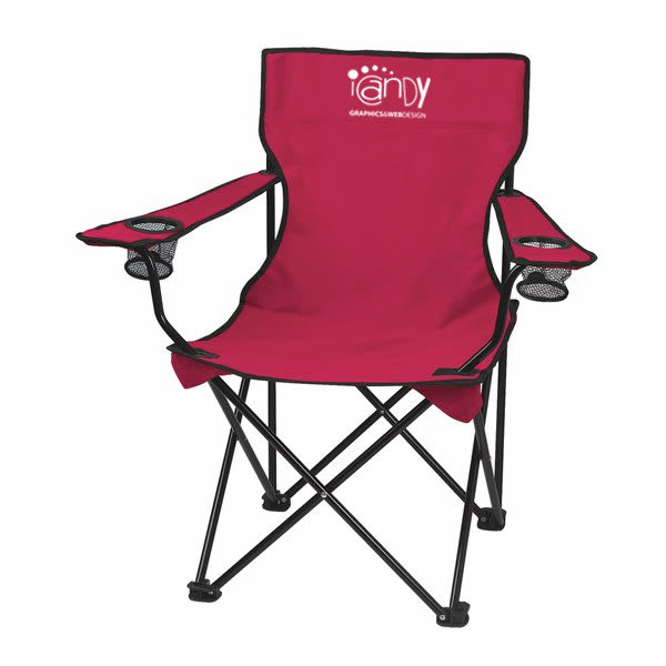 Customizable Fold Up Chairs with Bag | Folding Chair with Carrying B