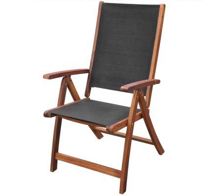 vidaXL 2x Solid Acacia Wood Garden Folding Chair Patio Outdoor .