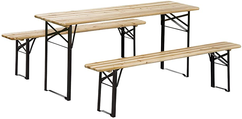 Amazon.com : Outsunny 6' Wooden Outdoor Folding Patio Camping .
