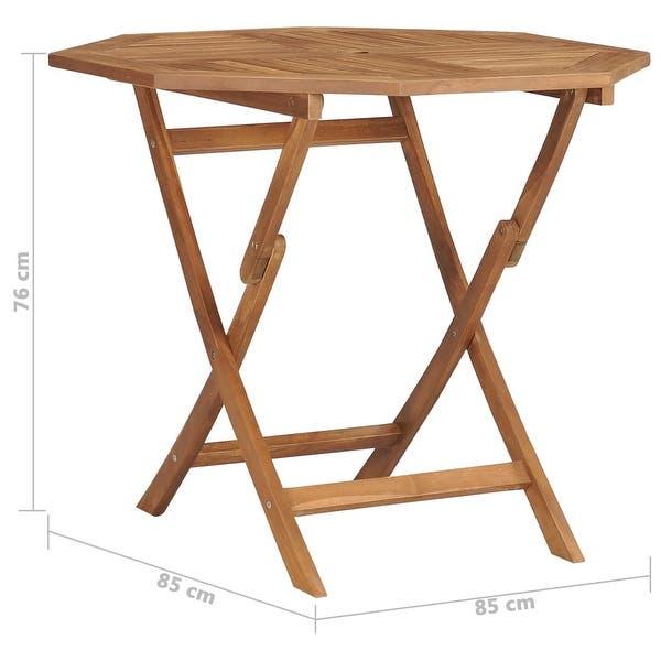 "Shop vidaXL Folding Garden Table 33.5""x33.5""x29.9"" Solid Teak Wood ."