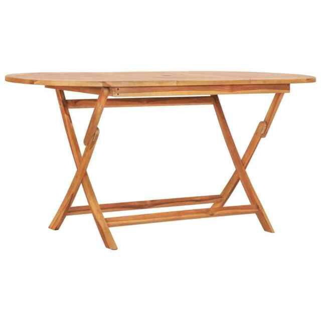 Weather Resistant Wood Sturdy Table With Two Benches & Folding .