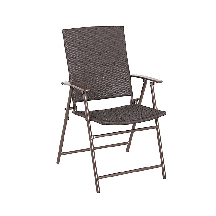 Bistro Folding Wicker Chair | Bed Bath & Beyo