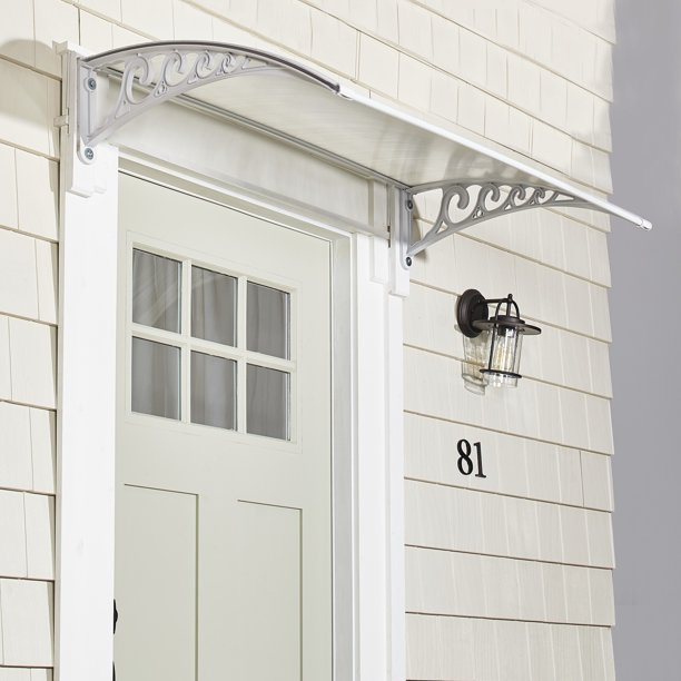 Metal Window Awning Or Front Door Canopy - Sun Shade And Rain .