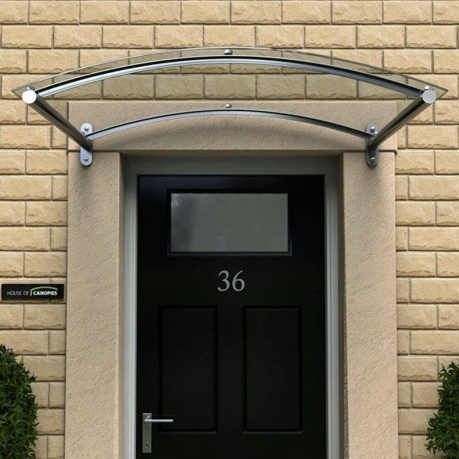 Curved Polycarbonate Door Canopy Type: A - 755mm Projection .