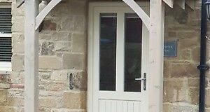 "REDWOOD PORCH FRONT DOOR CANOPY HANDMADE IN SHROPSHIRE ""Grosvenor ."