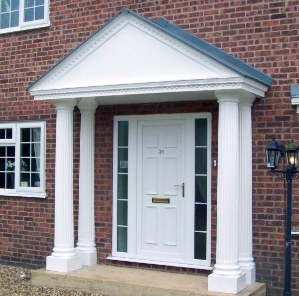 Front door canopy | Front door canopy, Door canopy with pillars .
