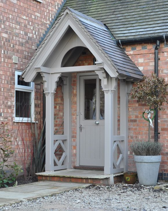 Wooden Door Canopy Kits - Diy Projects   Cottage front doors .