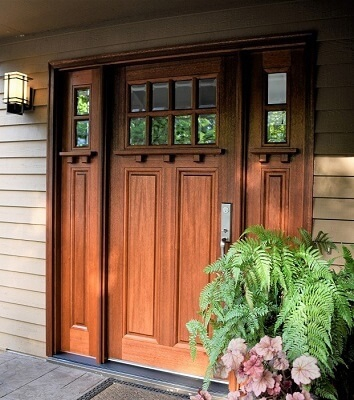 Beautiful Craftsman Entry Door With Rich Stain | Pel
