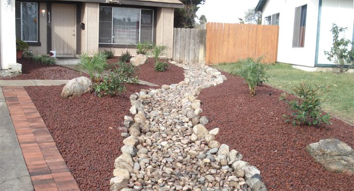Rocks For Yard - Whatiswix Home Garden | Front garden design .