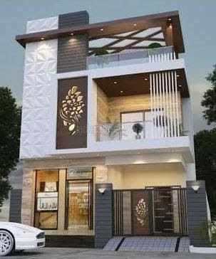 Best 60 modern house front facade design - exterior wall .