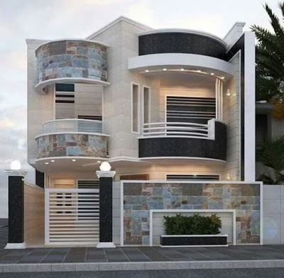 modern house front design ideas exterior wall decoration trends .