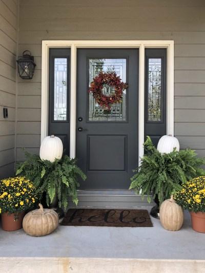 Simple Fall Front Porch Decor | Simple Purposeful Livi