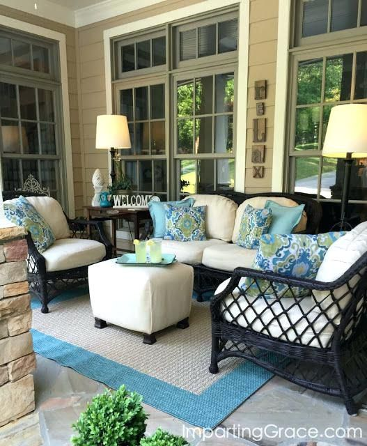 Image result for screened porch furniture layout | Porch furniture .
