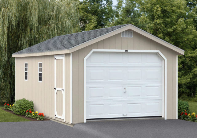 Single Car Garage Storage Sheds | Garage Sheds | Stoltzfus Structur