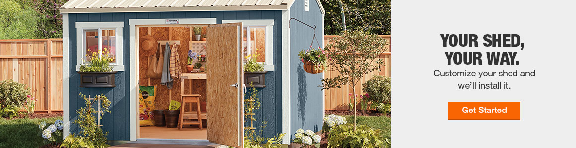 Sheds, Garages & Outdoor Storage - The Home Dep
