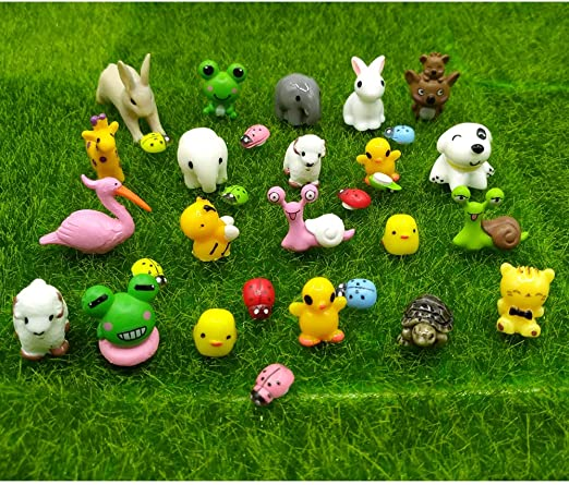 Amazon.com: EMiEN 31 Pieces Mini Animals Miniature Ornament Kits .