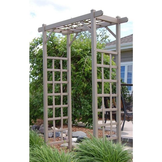 DuraTrel 4.75-ft W x 7-ft H Mocha Garden Arbor in the Garden .