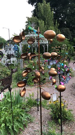 Unique garden art - Picture of Red Shed Garden & Gifts, Baraboo .