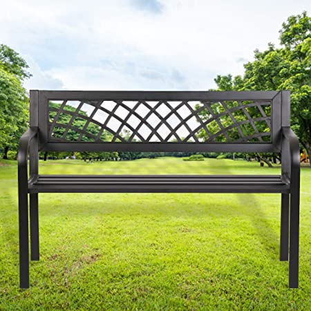 Amazon.com : Garden Bench Outdoor Bench for Patio Metal Bench Park .
