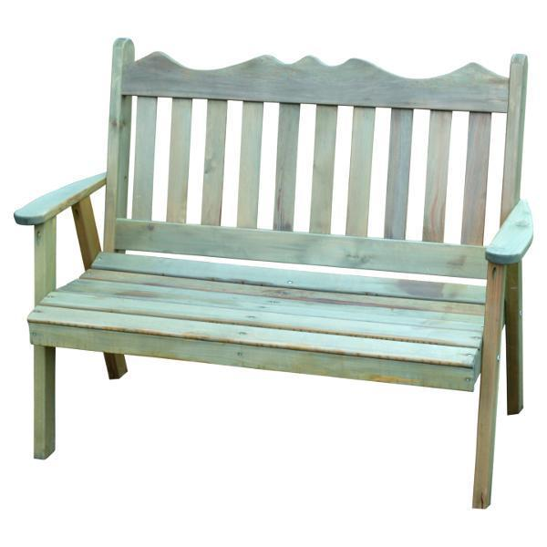 Western Red Cedar Royal English Garden Bench by A & L Furniture .